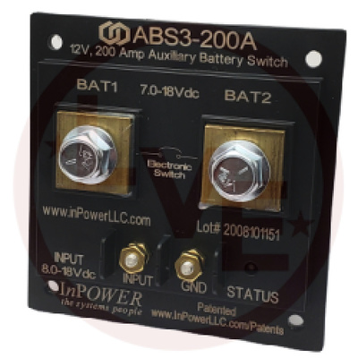 AUXILLIARY BATTERY SWITCH 200A SGL LUG