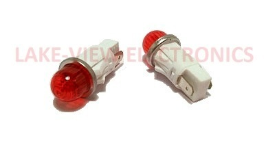 "INDICATOR LAMP 125V RED NEON  0.50"" MNT HOLE"