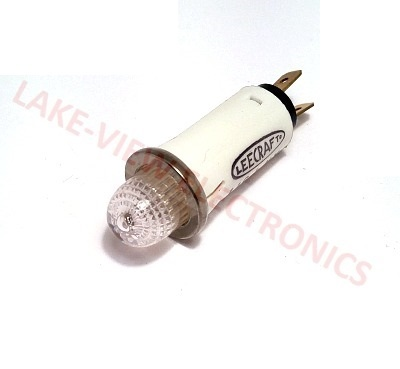 "INDICATOR LIGHT 125V CLEAR NEON Q.C. TERMINALS 0.500"" MNT HOLE"