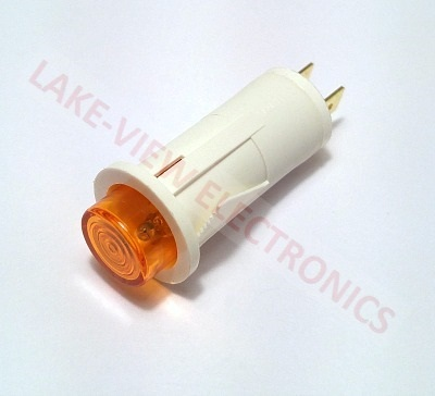 "INDICATOR LAMP 125V AMBER NEON 0.187"" Q.C. TERMINALS SNAP MNT"